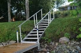 Dock Steps Provide Safe Access To The Beach Pier