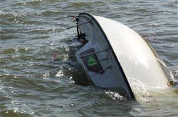 Image of sinking boat