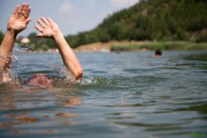 image of A swimmer in distress