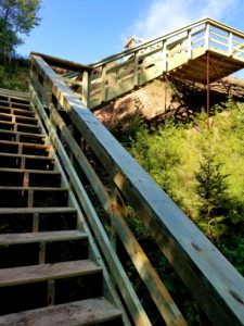 image of Stairs and deck built over a cliff