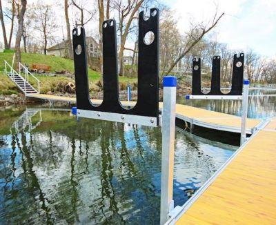 iamge of Infinity Track System dual stand up paddleboard rack