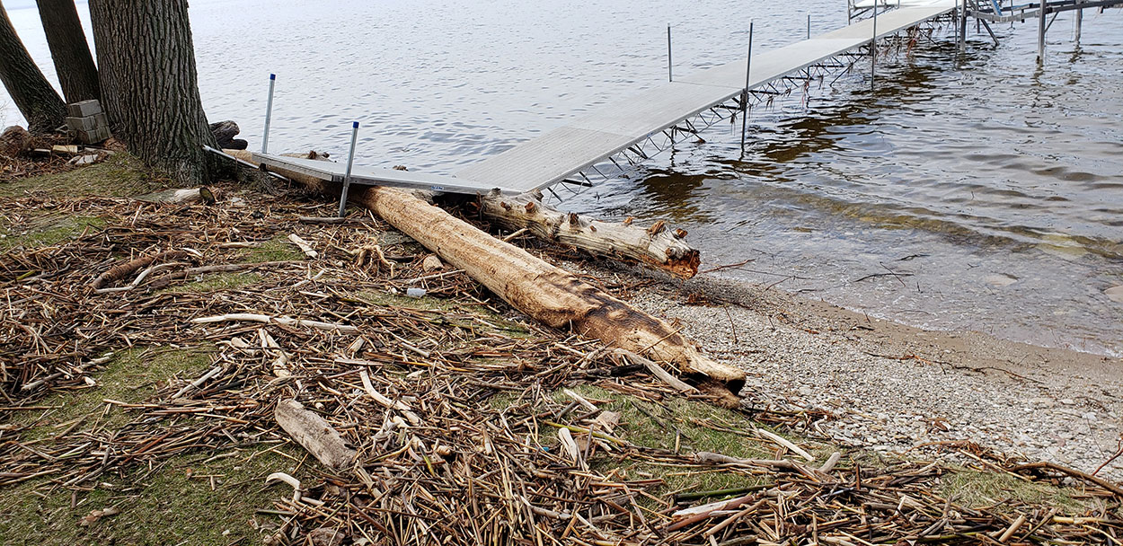 image of Storm Damage caused by floating logs